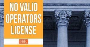 Virginia no valid operators license
